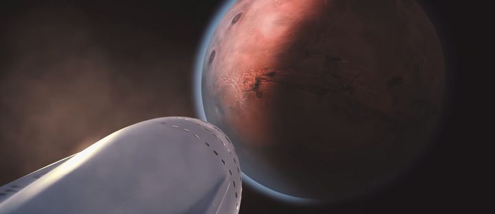 """SpaceX's Elon Musk unveiled plans to take humans to Mars in a <a href=""""https://www.youtube.com/watch?v=0qo78R_yYFA"""" target=""""_"""