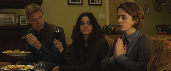 "Peter Hedges, Ally Sheedy and Addison Timlin star in a scene from ""Little Sister."""