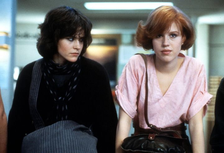 "Ally Sheedy and Molly Ringward star in a scene from ""The Breakfast Club."""