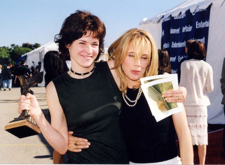 "Ally Sheedy and Rosanna Arqeutte attend the 1999 Independent Spirit Awards, where Sheedy won Best Female Lead for ""High Art."""