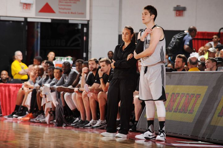 Becky Hammon, the first woman to earn a full-time NBA coaching job, led the Spurs to the 2015 Las Vegas Summer League champio