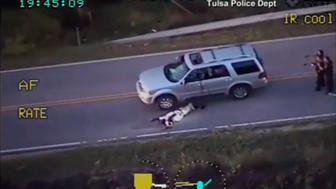 ATTENTION EDITORS - VISUAL COVERAGE OF SCENES OF INJURY OR DEATHA still image captured from a video from Tulsa Police Department shows Terence Crutcher after being shot during a police shooting incident in Tulsa, Oklahoma, U.S. on September 16, 2016. Video taken September 16, 2016.   Courtesy Tulsa Police Department/Handout via REUTERS    ATTENTION EDITORS - THIS IMAGE WAS PROVIDED BY A THIRD PARTY. EDITORIAL USE ONLY