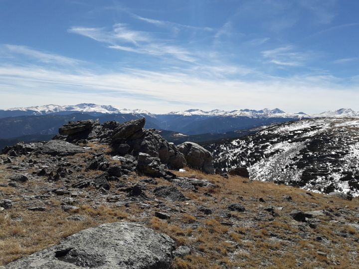 <p>View at top of St. Mary&#39;s Glacier</p>