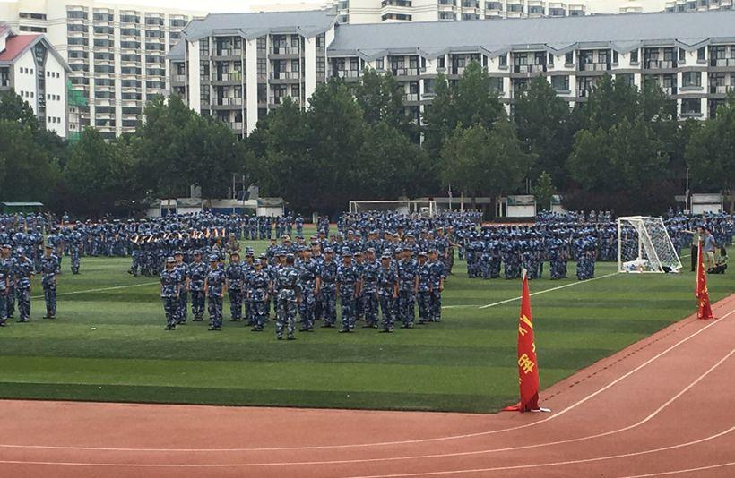 Jūnxùn (军训) at Tsinghua University