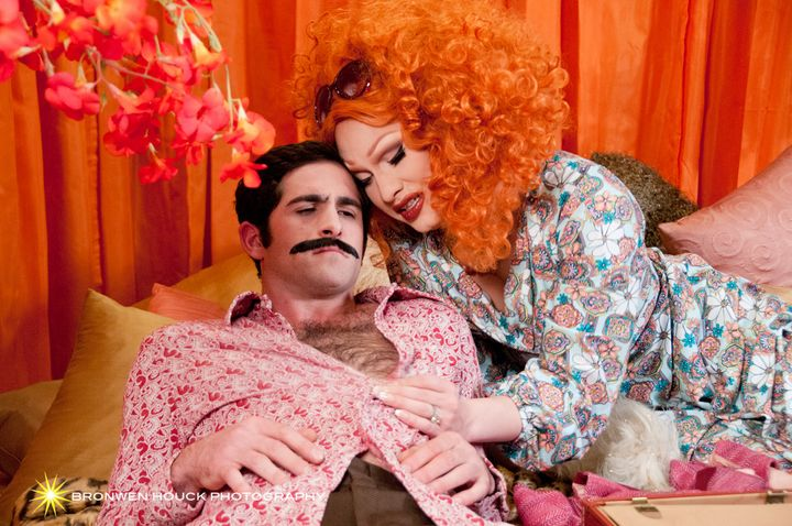 """Jonathan Crimeni and Jinkx Monsoon in """"Capitol Hill"""""""