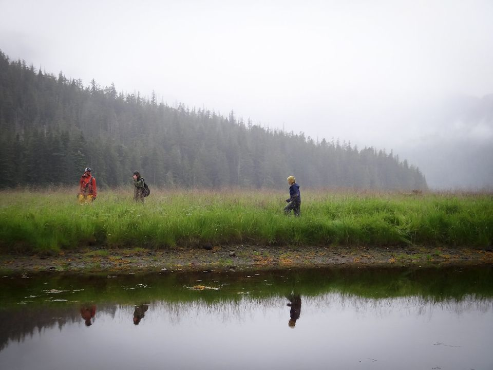 Oakes' field crew during their Alaskan research expedition in