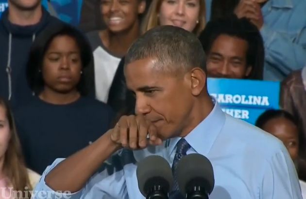 President Barack Obama responds to absurd 'demonic' claims by sniffing himself