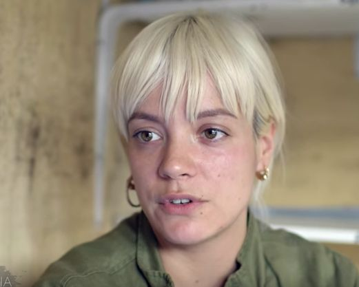 Lily Allen visited the so-called Jungle migrant camp in