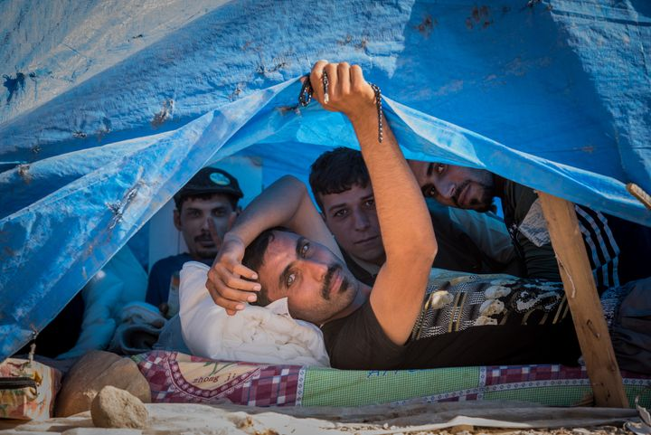 Many people atDebaga camp for displaced Iraqis have fled ISIS. Theyundergo majorsecurity checks before bein