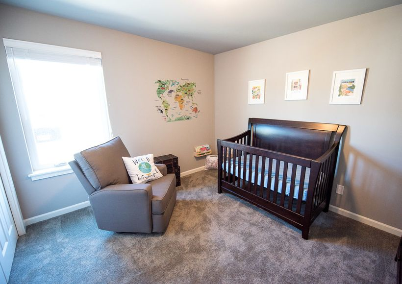 We incorporated our love of travel into our newborn's nursery.