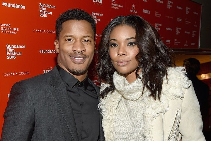 Nate Parker and Gabrielle Union on Jan. 25 in Park City, Utah, at the Sundance Film Festival.