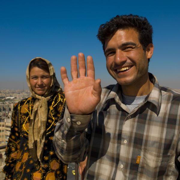 A couple in Aleppo on Oct. 5, 2006.
