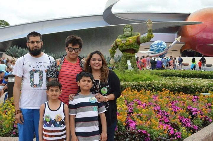 The Usmani family at Disney World earlier this year.
