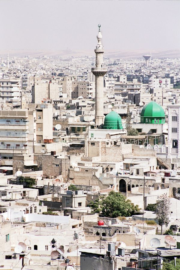 ViewofAleppo from the city's citadel on Oct. 21, 2004.