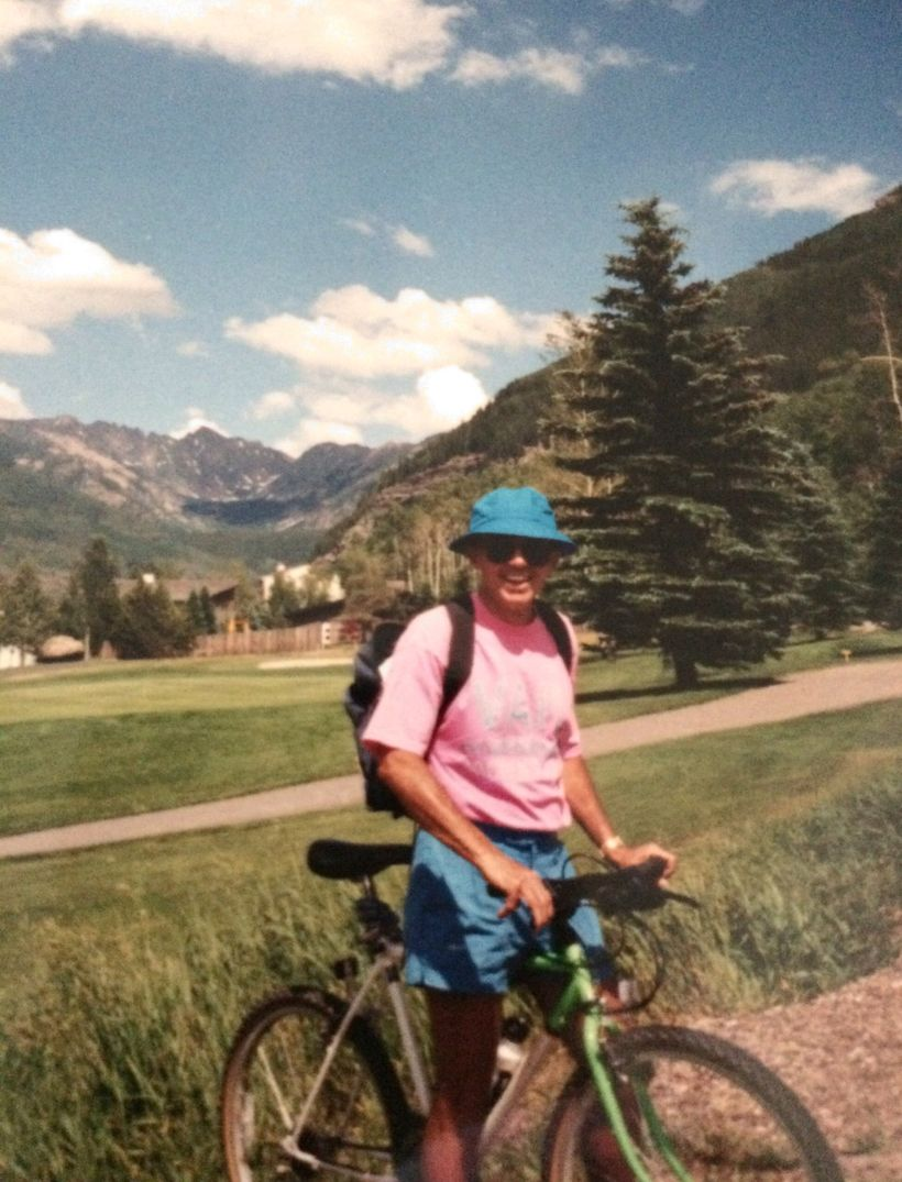 On a bike ride in Vail, Colorado - one of their favorite playgrounds