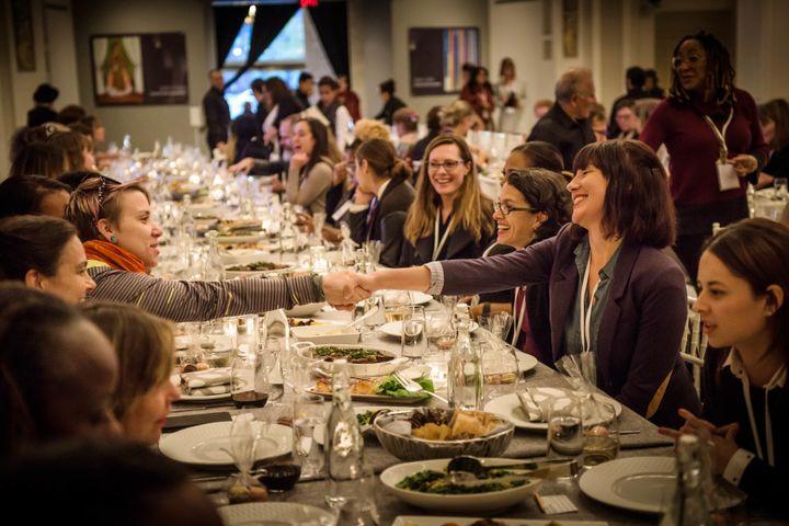 Attendees enjoying Sunday Supper at a Fresh Talk event.