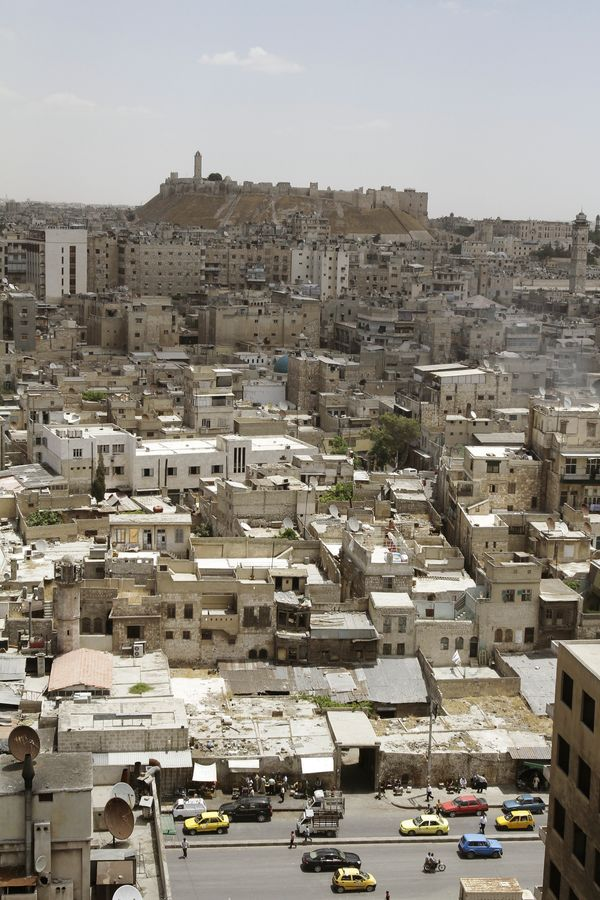A view of Aleppo andits historic citadel on June 23, 2010.