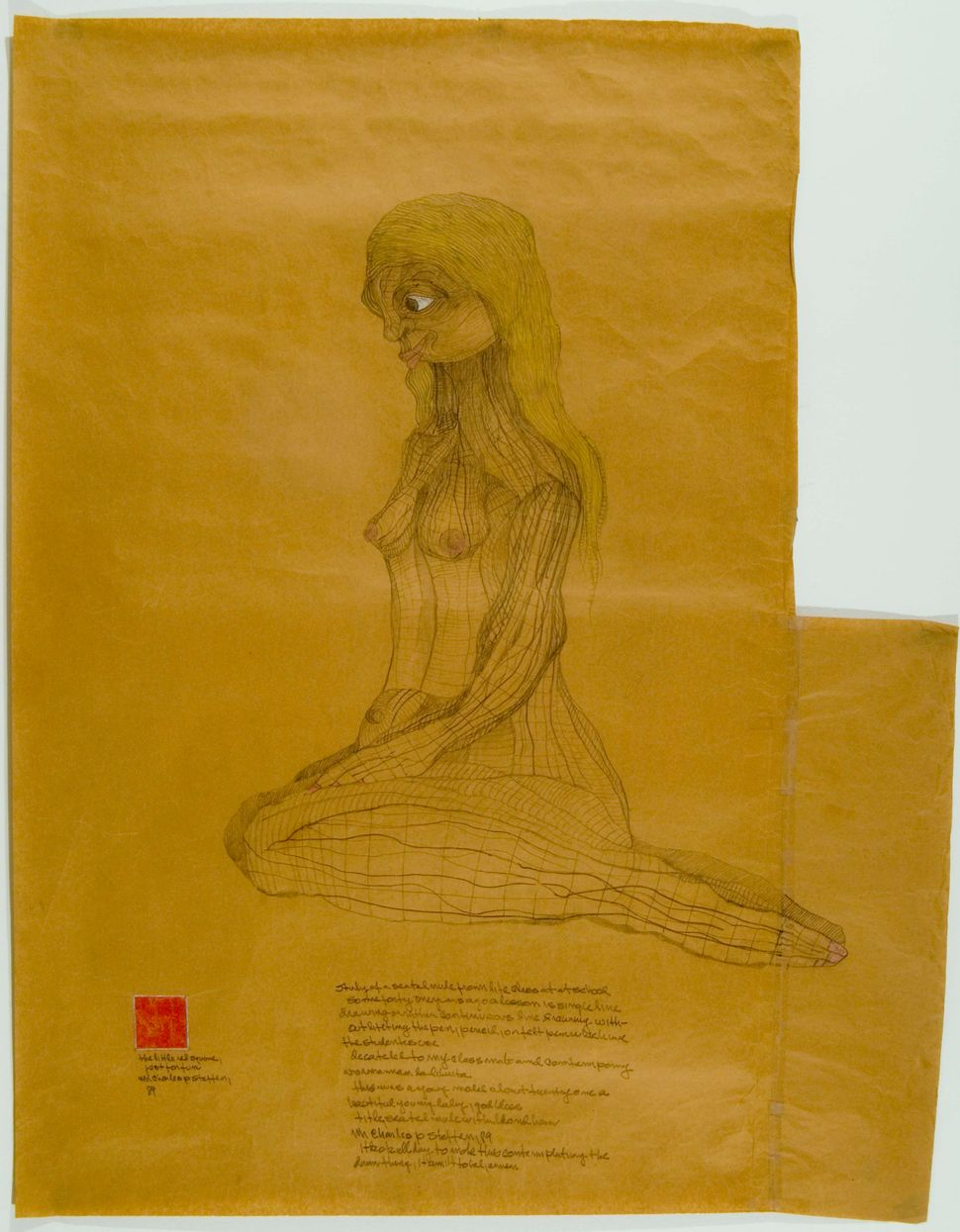 """""""Seated Nude with Blond Hair,"""" 1989"""