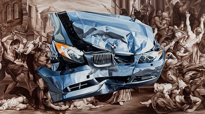 "ENDEMIC oil on canvas 36"" x 64"" 2015"