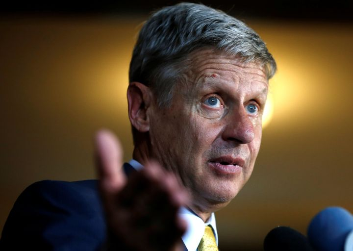 Gary Johnson says that his support for private prisons does not conflict with his criminal justice platform.