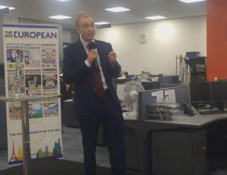 Tim Farron at The New European