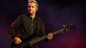 CONCORD, CA - AUGUST 04:  Pete Wentz of Fall Out Boy performs during the 2015 Boys of Zummer Tour at Concord Pavilion on August 4, 2015 in Concord, California.  (Photo by C Flanigan/FilmMagic)