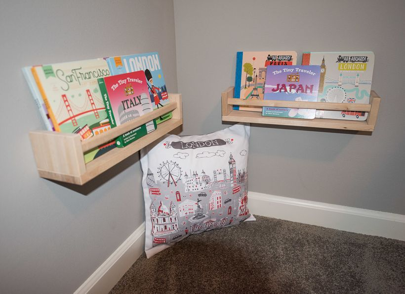 This reading nook provides my toddler with a space to entertain himself while I'm taking care of our newborn.