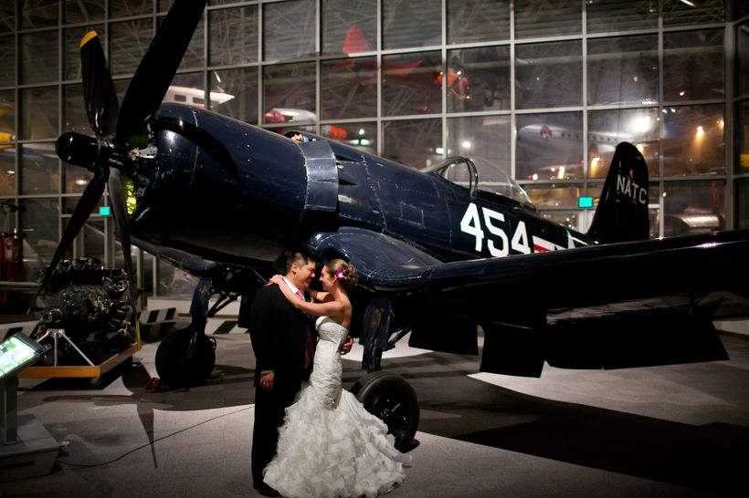 We snuck away to the WWII exhibit area at the Museum of Flight right after the ceremony.
