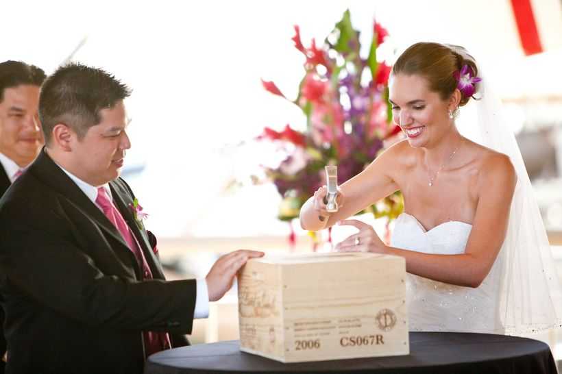 We included a time capsule as part of our wedding ceremony. Everything is more fun when a hammer is involved!
