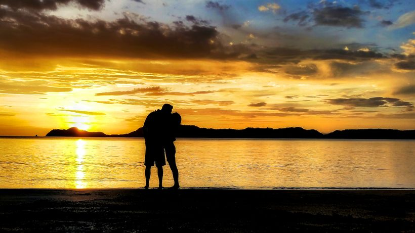 Sunset kiss in Costa Rica