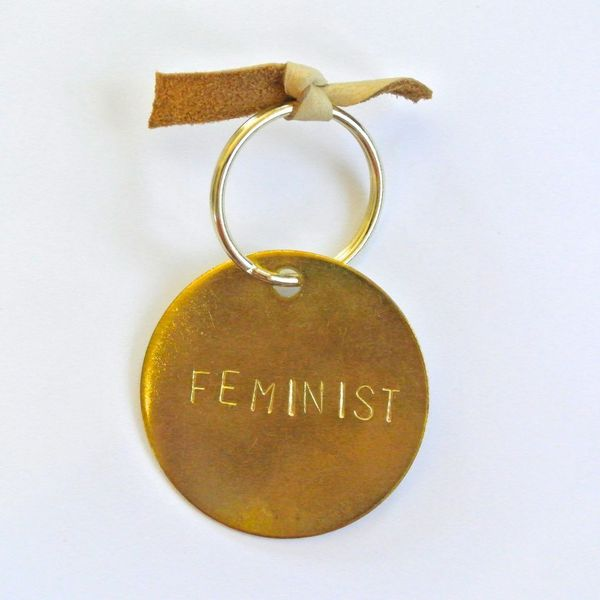 """$12 at <a href=""""http://otherwild.com/collections/accessories/products/feminist-keychain?variant=1117296553"""" target=""""_blank"""">O"""
