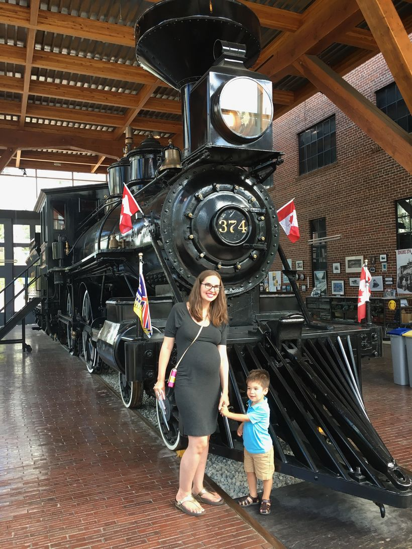 Our first stop in Vancouver was the Historic CPR 374 Locomotive on display in Yaletown.
