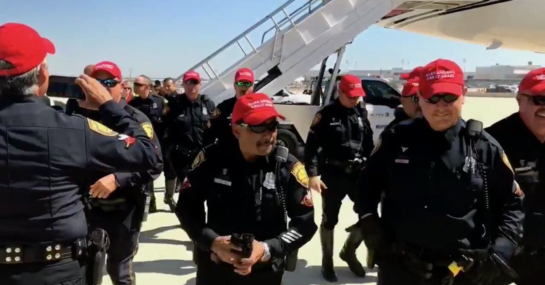 On-Duty Texas Police Officers Wore Pro-Trump Hats