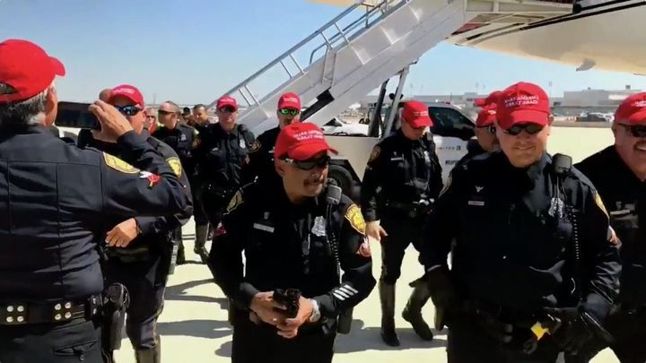 On-Duty Texas Police Officers Wore Pro-Trump Hats  That's A