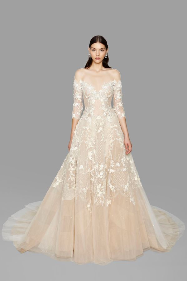 37 super romantic new wedding gowns you 39 ll be obsessing for Romantic wedding dress designers