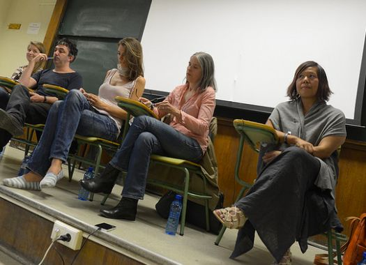 """Global Center for Advanced Studies' Panel: """"Democracy in the Time of Monsters"""" with Sadie Luetmer, Giovanni Tusa, Eleni Xilak"""