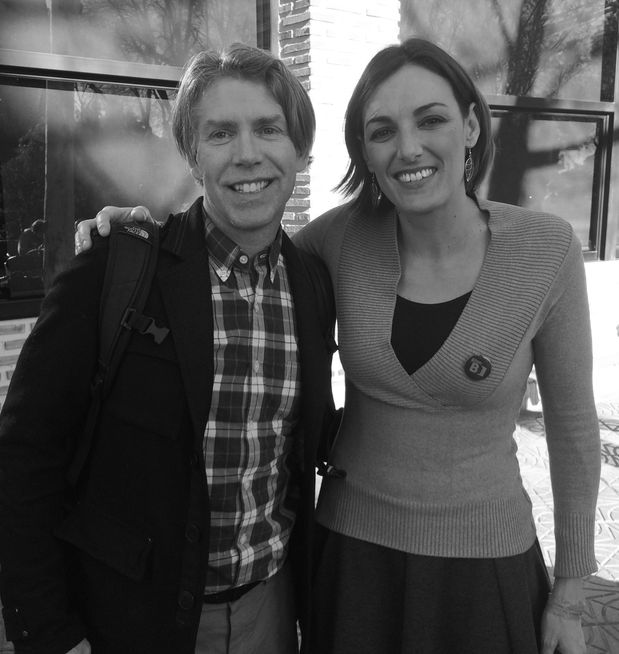 Podemos MP in the European Parliament, Lola Sanchez and me in Madrid