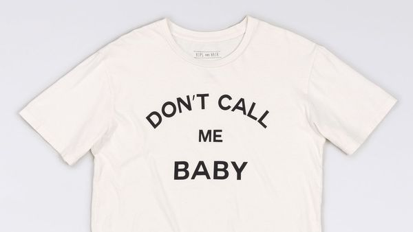 """$42 at <a href=""""http://www.wildfang.com/don-t-call-me-baby-tee-13941.html"""" target=""""_blank"""">Wildfang</a>"""