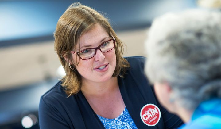 Emily Cain is running as a Democrat in Maine's 2nd Congressional District.
