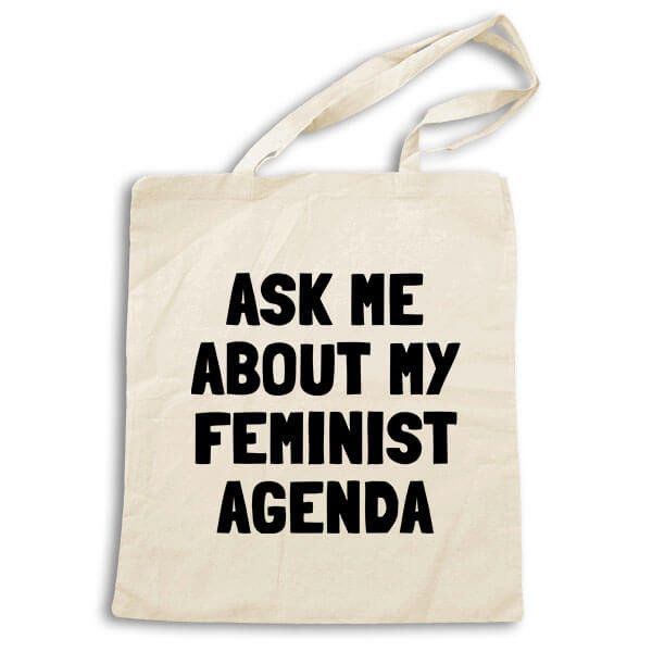 """$24.95 at <a href=""""http://www.feministapparel.com/collections/tote-bags/products/feminist-tote-bag"""" target=""""_blank"""">Feminist"""