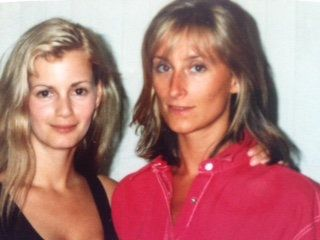 "Lisa Boyne (left) pictured with Sonja Morgan, now a ""Real Housewives of New York"" cast member."
