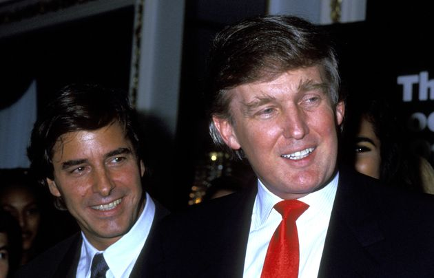 Donald Trump (right) pictured with modeling agent John Casablancas in 1991. One woman said she attended...