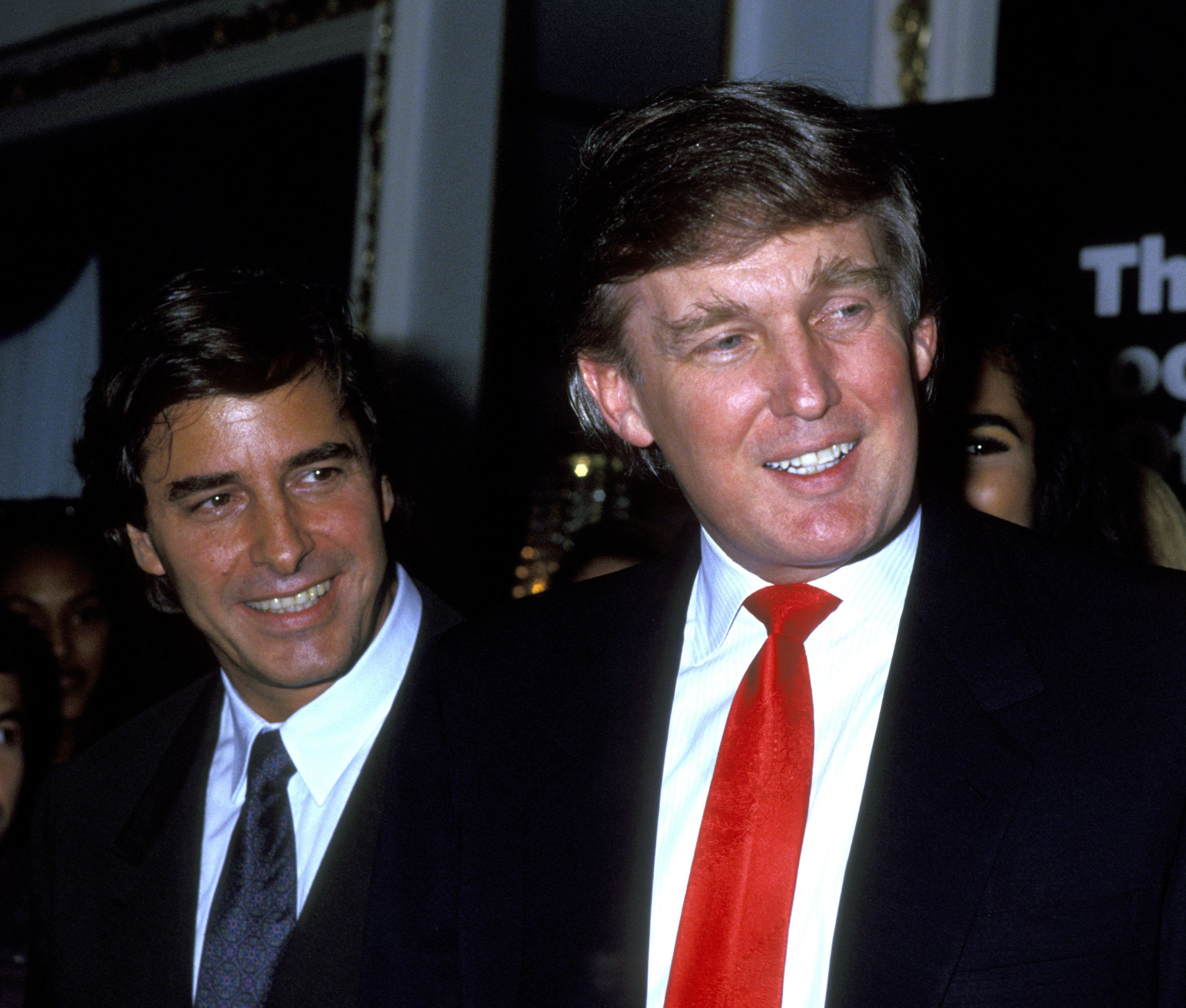Donald Trump (right) pictured with modeling agent John Casablancas in 1991. One woman said she attended a dinner with bo
