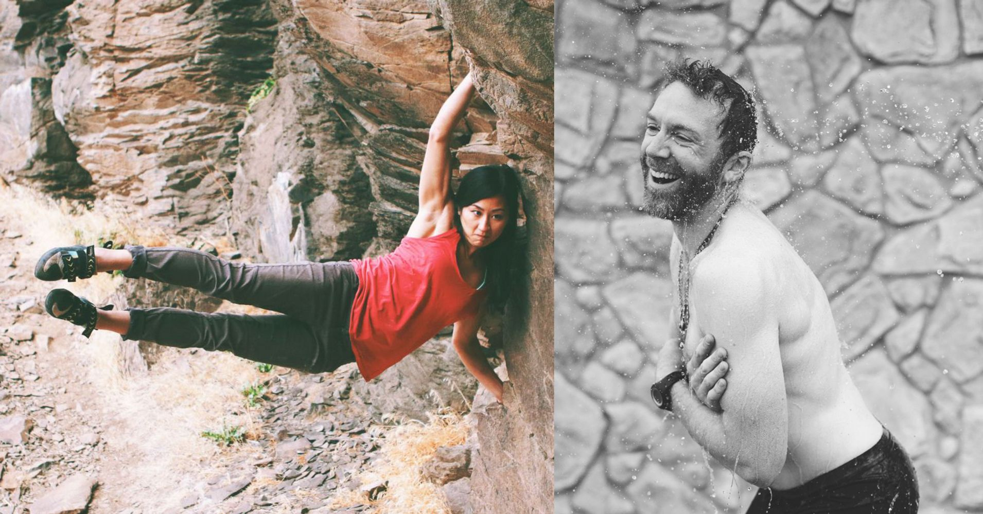 athletes mock gq photo shoot to show why climbing like a