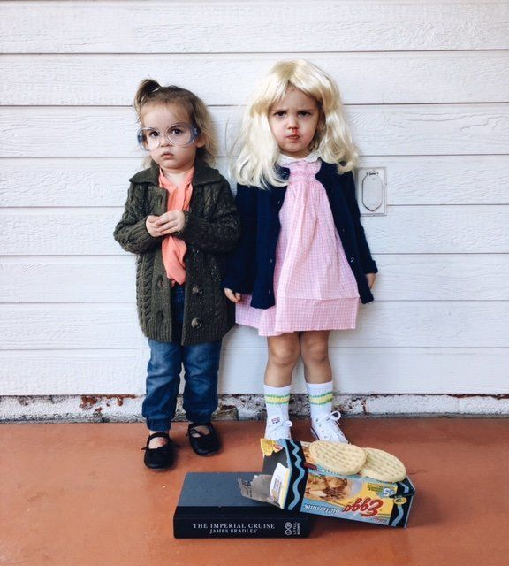 twins emma and mila make the best baby barb and eleven from stranger things sc my boy girl twins first halloween costume