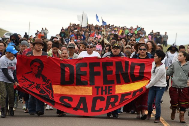 Thousands marched against the Dakota Access Pipeline in early September. They were met with guards carrying...