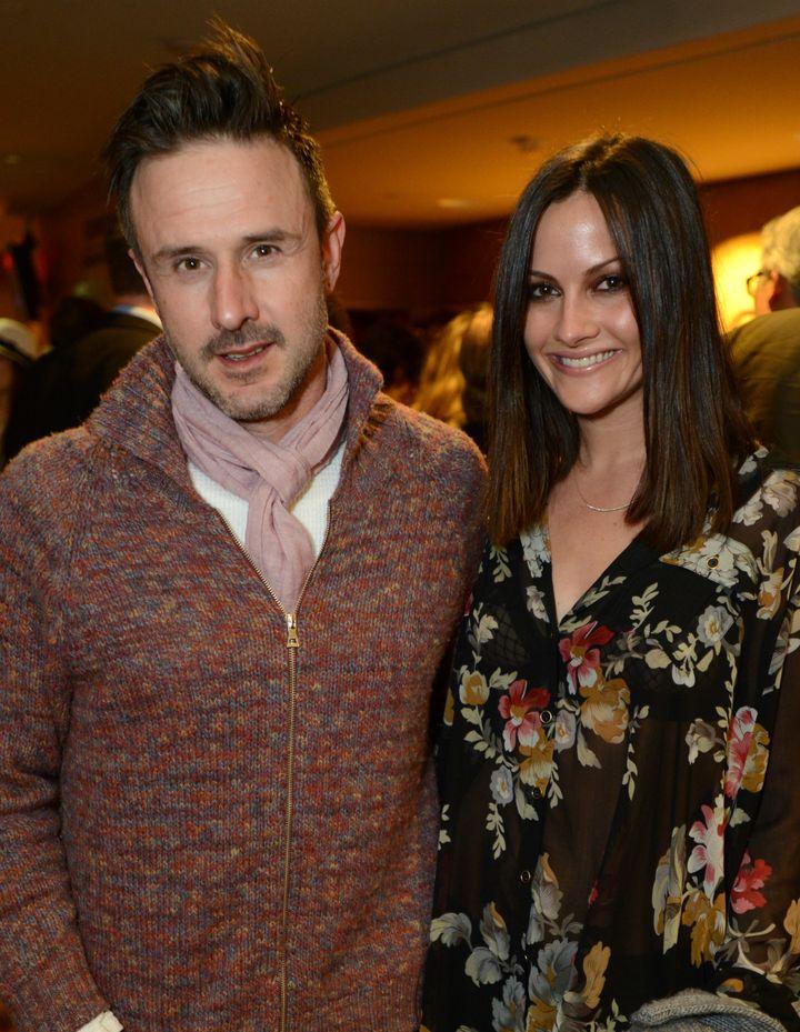 David Arquette and his wife Christina.