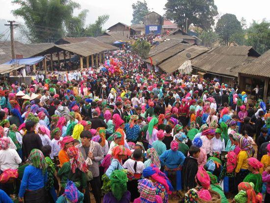 Hill tribe market in Vietnam