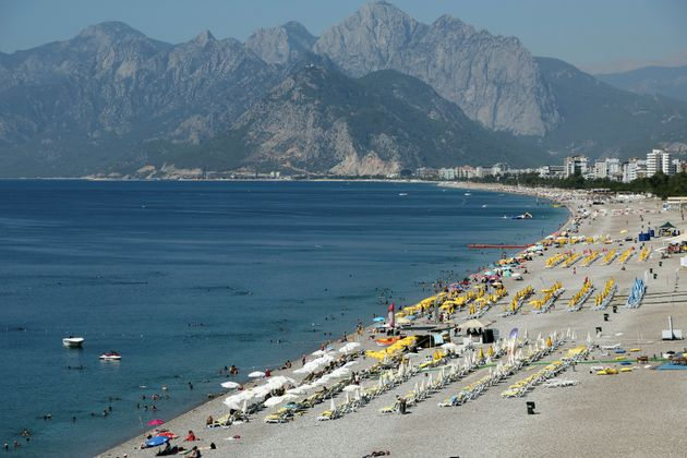 A Turkish holiday resort has been hit by rockets in the region of Antalya (file