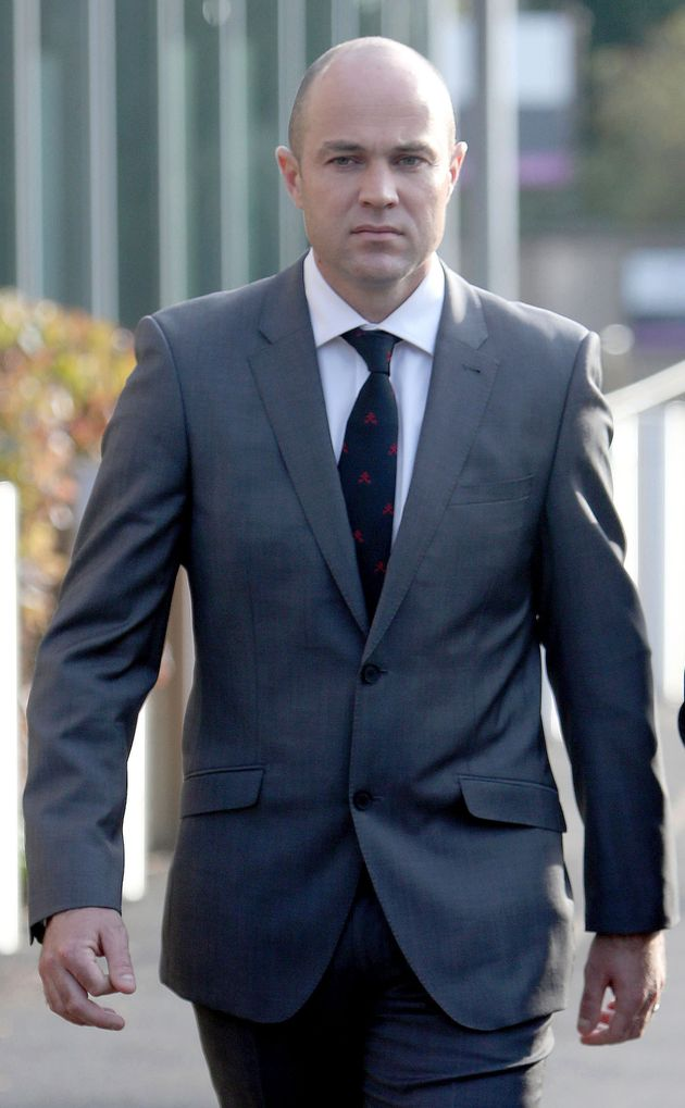 Army sergeant Emile Cilliers arrives at Salisbury Magistrates' Court, Wiltshire, where he appeared accused...